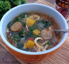 Sausage, Chicken and Squash Slow Cooker Stew