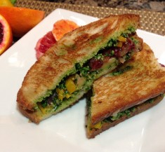 Blood Orange Grilled Cheese Sandwich with Kale Pesto