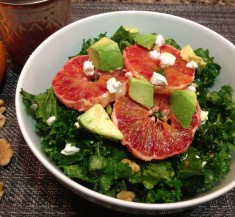 Kale Salad with Blood Oranges and Goat Cheese