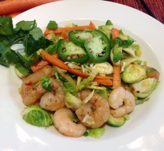 Shrimp and Brussels Sprouts Stir-Fry