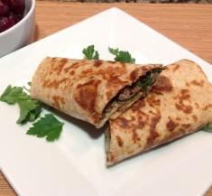 Lamb, Spinach and Feta Wraps