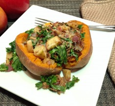 Pork and Apple Stuffed Sweet Potato