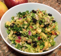 Broccoli Salad with Tasty Tahini Dressing