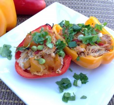 Slow Cooker Mango Chicken Stuffed Peppers