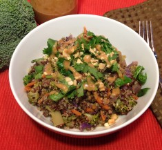 Thai Quinoa Bowl with Peanut Sauce