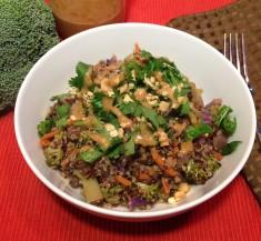 Thai Quinoa Bowl with Peanut Sauce