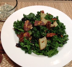 Kale Salad with Bacon, Roasted Potatoes, and Blue Cheese Vinaigrette