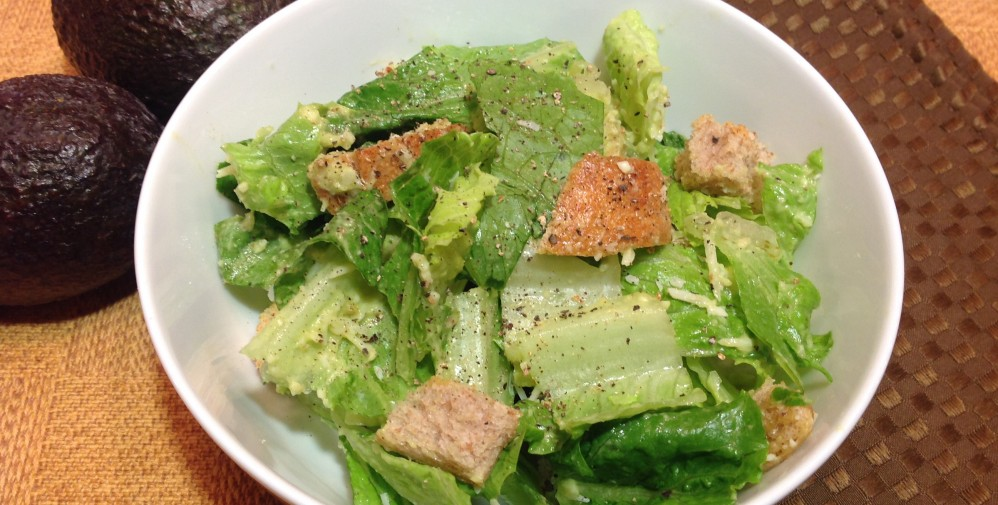 Caesar Salad with Avocado Dressing
