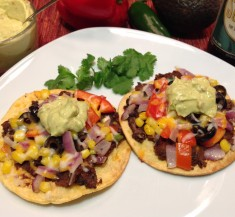 Mexican Black Bean Veggie Pizza