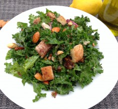 Kale Salad with Spiced Almonds