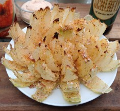 Healthified Bloomin' Onion with Spicy Dipping Sauce