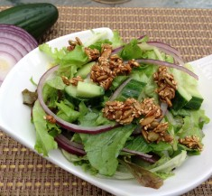 Simple Salad with Honey Seed Crunch