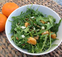 Arugula Salad with Orange Sesame Vinaigrette