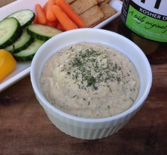 Garlic Dill Pickle Hummus