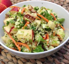 Zesty Apple and Brussels Sprouts Salad