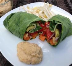 Sweet Potato Collard Green Wraps