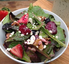 Roasted Beet and Mixed Berry Salad