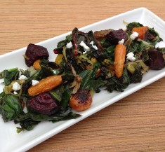 Roasted Beets and Carrots with Goat Cheese Vinaigrette