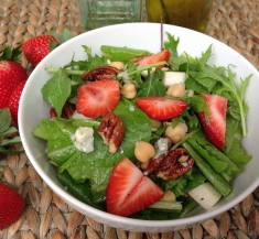 Strawberry Blue Cheese Kale Salad