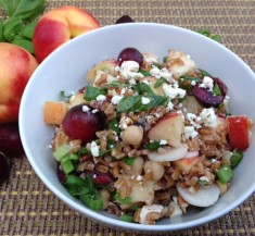 Nectarine and Cherry Farro Salad