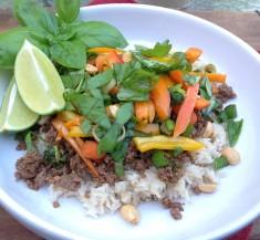 Thai Basil Beef Skillet