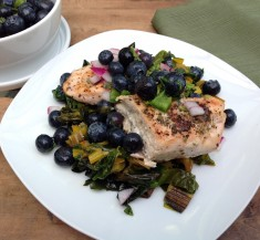 Goat Cheese Chicken with Blueberry Salsa