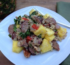 Pineapple and Sausage Quinoa