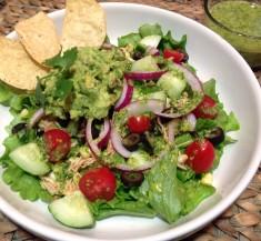 Chicken Taco Salad with Cilantro Vinaigrette