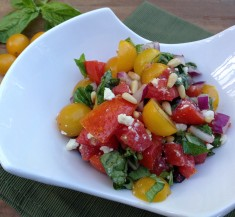 Greek Tomato Basil Salad