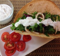 Kale Salad Tortillas with Zesty Dressing