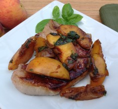 Skillet Pork Chops with Peaches