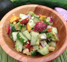 Cucumber, Avocado and Peach Salad