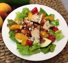 Cajun Chicken Salad with Grilled Peaches