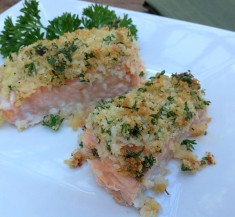Panko Crusted Mustard Salmon