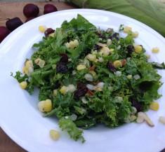 Cherry, Corn and Kale Salad