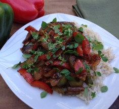 Vegetarian Pepper Steak