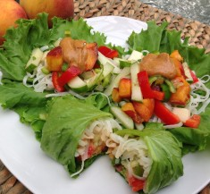 Summer Peach Lettuce Wraps
