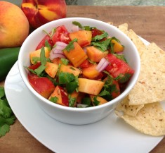 Easy Peach Salsa