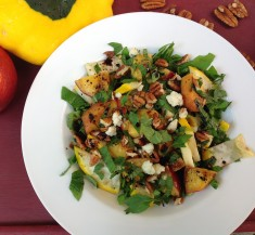 Grilled Summer Squash and Nectarines