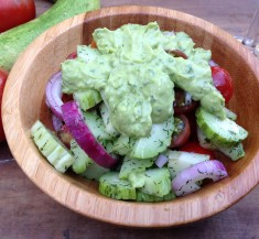 Cucumber and Tomato Salad with Green Goddess Dressing