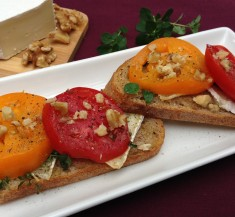 Brie Cheese and Tomato Toast