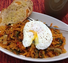 Sweet Potato Hash with EOT (Egg on Top)