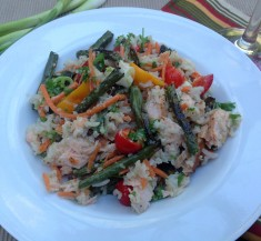 Citrus Salmon Rice Salad