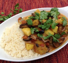 Eggplant and Mushroom Curry