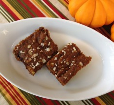 Pumpkin Almond Butter Bars