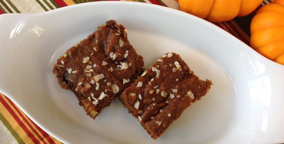 Pumpkin Almond Butter Bars