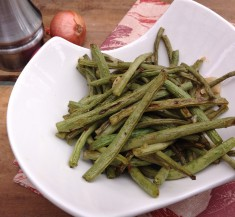 Honey Mustard Roasted Green Beans