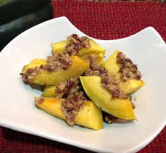 Maple Roasted Acorn Squash with Nut Topping