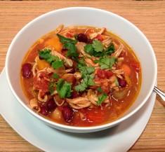 Slow Cooker Sweet Potato Chicken Chili