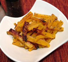 Honey Baked Butternut Squash Fries